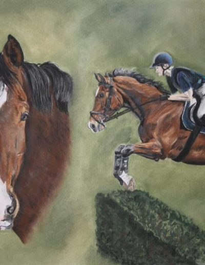 Bilder Stefanie Angelkorte Rajk Pferdeportraits Auftragsmalerei Vielseitigkeitspferd